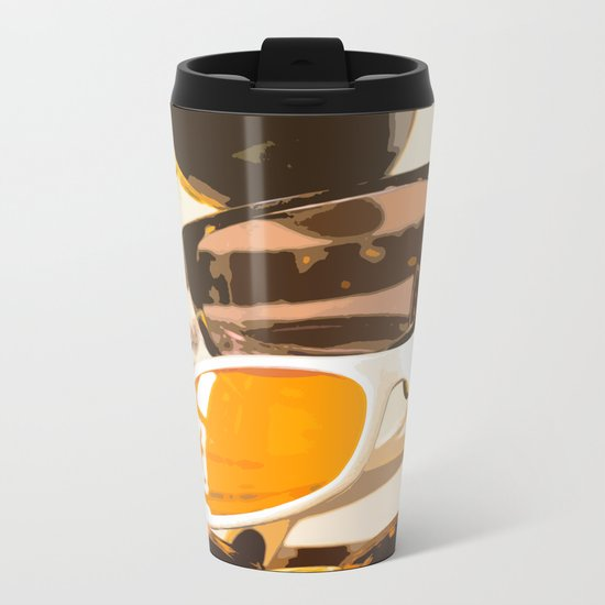 Let the sun shine - welcome spring and summer! Metal Travel Mug