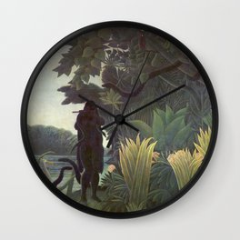 The Snake Charmer by Henri Rousseau Wall Clock