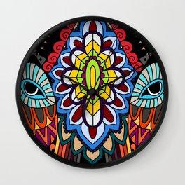 Tribal ceremonial mask Wall Clock