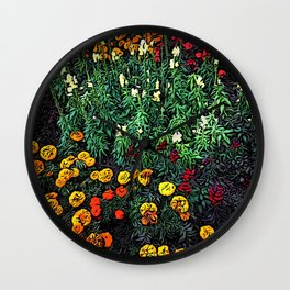 A Moment of Flowers in Estes Park Wall Clock