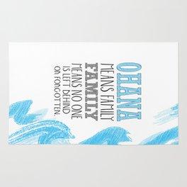 ohana means family lilo and stich cerulium Rug