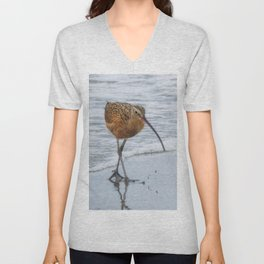 Long Billed Curlew Unisex V-Neck