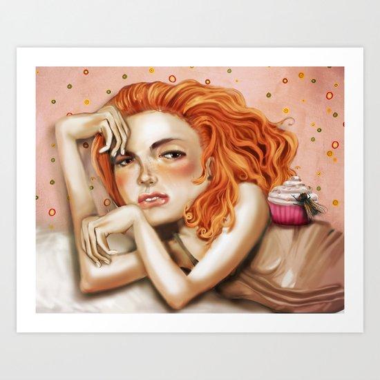 Miss Muffet Art Print