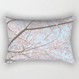 Vintage pink tree Rectangular Pillow