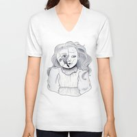 doll V-neck T-shirts featuring Doll by scoobtoobins