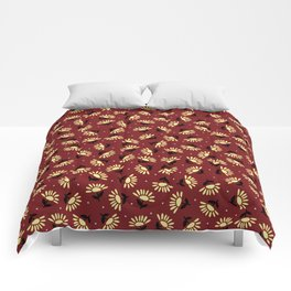 Ethnic flowers Comforters