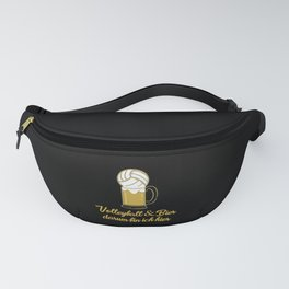 Volleyball Drinking Beer Fun Fanny Pack