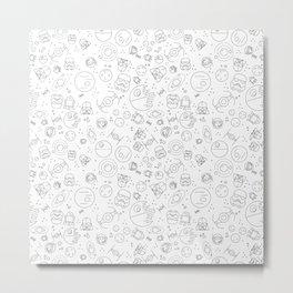 Outta Space white Metal Print