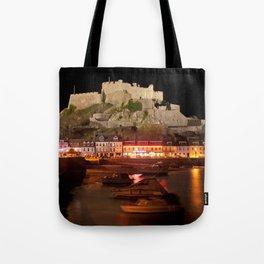 Jersey Night Castle - Mont Orgueil Tote Bag
