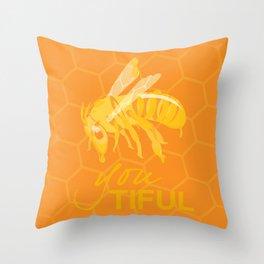 Bee You Tiful  Throw Pillow
