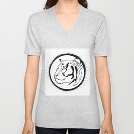 Don't play with the tiger! Unisex V-Neck