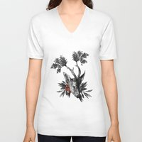 renaissance V-neck T-shirts featuring Renaissance Noir II by Olivia Cho