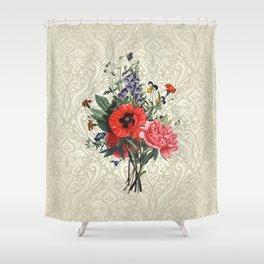 Victorian flower bouquet Shower Curtain
