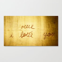 I Once Loved You Canvas Print