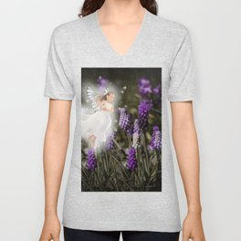 Hyacinth Fairy Unisex V-Neck