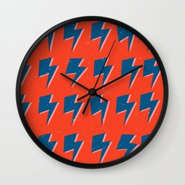 Hey Kidd- Lightning Pattern Wall Clock