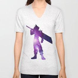 Purple Space Cloud Strife Unisex V-Neck