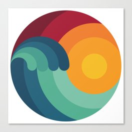 Surfer Ocean Surfing Wave Kitesurfing Sunset Wakeboard Diver Gift Canvas Print