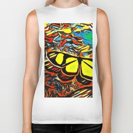 Butterfly, colorful butterfly, watercolor, color splash butterfly Biker Tank