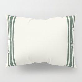 Green stripes on Cream Grainsack (wider stripes) Pillow Sham