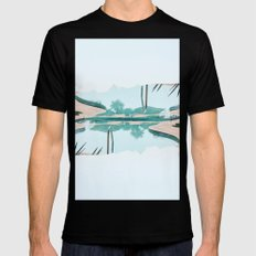 Pool Vibes Black Mens Fitted Tee SMALL