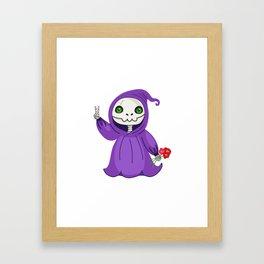 Not-So Grim Reaper Framed Art Print