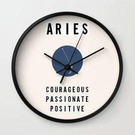 Horoscope Square: Aries Wall Clock