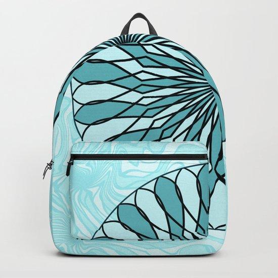 Teal and mint mandala Backpack