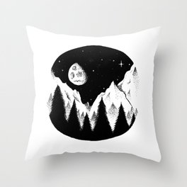 night in the woods Throw Pillow