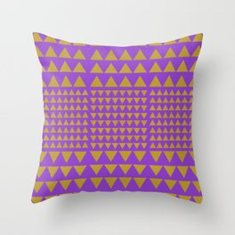Golden Triangles Purple Throw Pillow