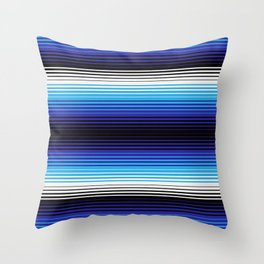 Deconstructed Serape in Blue Throw Pillow
