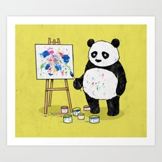 Panda Painter Art Print