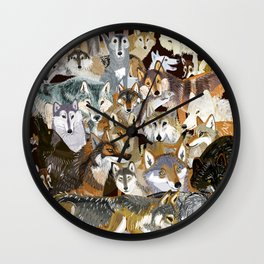 Wolves o´clock (Time to Wolf) Wall Clock