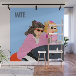 WTF - Grease Movie Vibes Got Me Like - Fan Art Digital Throwback Drawing Wall Mural