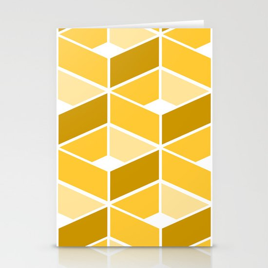 Simple Pattern Yellow Stationery Cards