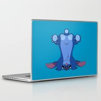 butt Laptop & iPad Skins featuring Stitch's Butt by FuManChou