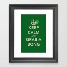 Keep calm and grab a bong Framed Art Print