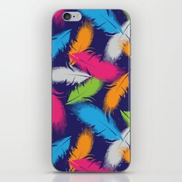 Bright Falling Feathers iPhone Skin