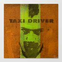 taxi driver Canvas Prints featuring Taxi Driver by Joe Ganech