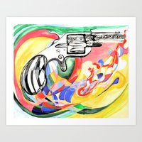 Lonely Gun Art Print