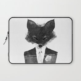 minima - dapper fox | noir Laptop Sleeve