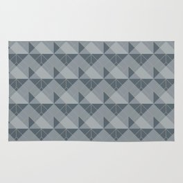 Simple Geometric Pattern 1 in Peninsula Blue Rug