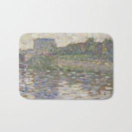The Seine at Courbevoie Bath Mat