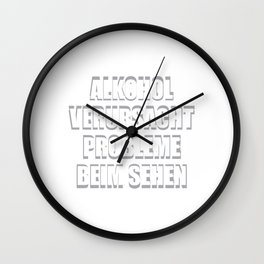 Alcohol Problems Seeing Blurred Gift Wall Clock