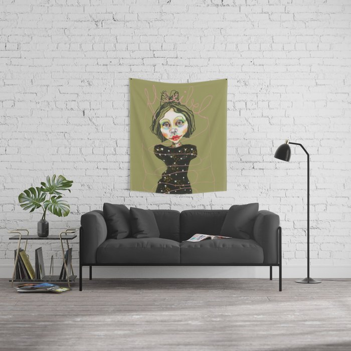 flexible girl Wall Tapestry