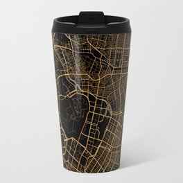 Black and gold Tokyo map Travel Mug