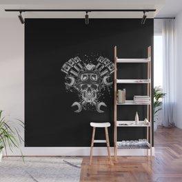 Grunge Distressed Biker Skull Wall Mural