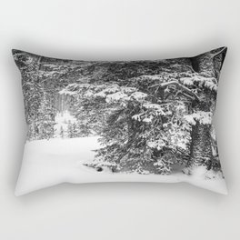 snowy pine Rectangular Pillow