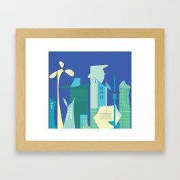 Futuristic World #1 Cityscape Framed Art Print