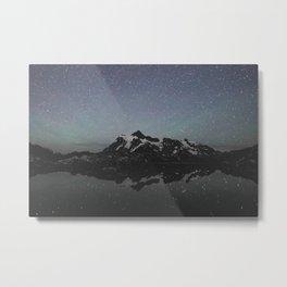 Mountains and Stars Metal Print